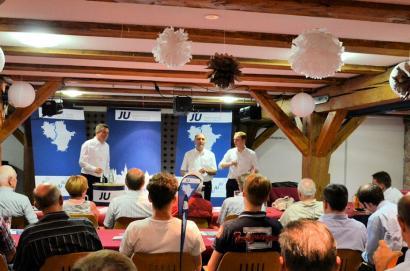 Auf Einladung der Jungen Union Halle diskutierte Dr. Christoph Bergner gemeinsam mit dem Mitglied des Europaparlamentes Sven Schulze und dem Publikum die Frage:
