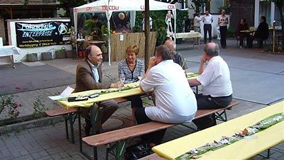 Christoph Bergner beim Sommerfest des CDU Kreisverbandes
